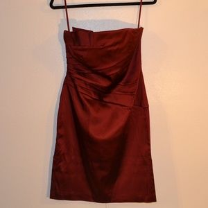 white house black market silky red party dress. 6